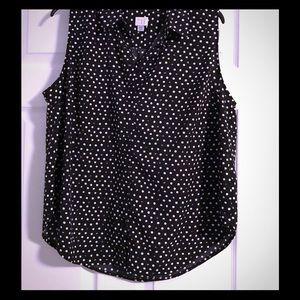 a.n.a polka dot blouse